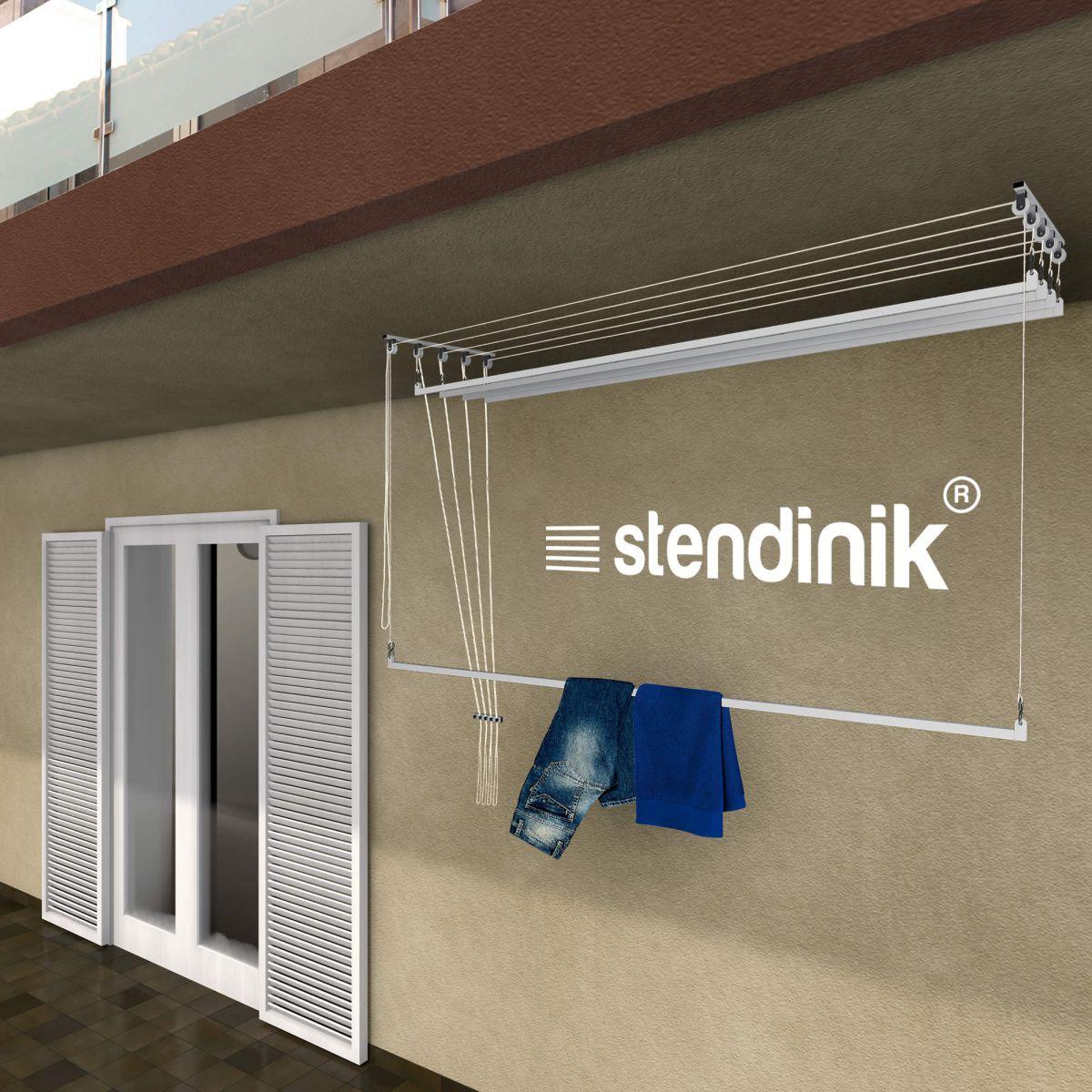 Stendibiancheria stendilenzuola da soffitto con 5 aste da - Stendipanni esterno ...