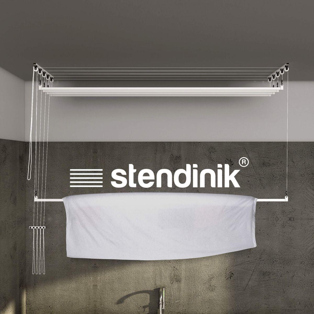 Stendibiancheria stendilenzuola da soffitto con 5 aste da for Stendibiancheria soffitto leroy merlin