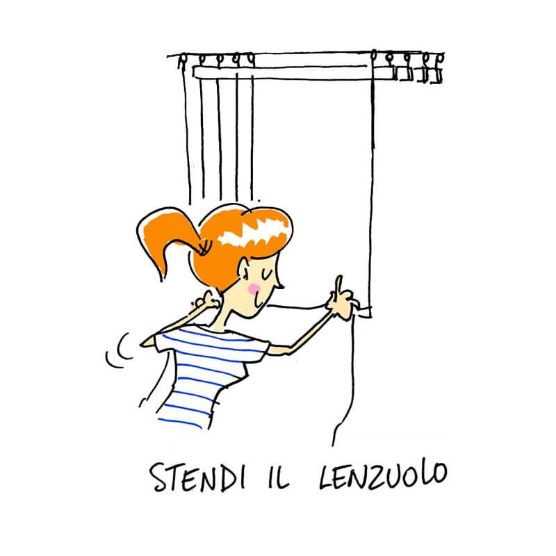 Abbassa la corda - Stendibiancheria da soffitto - Stendinik